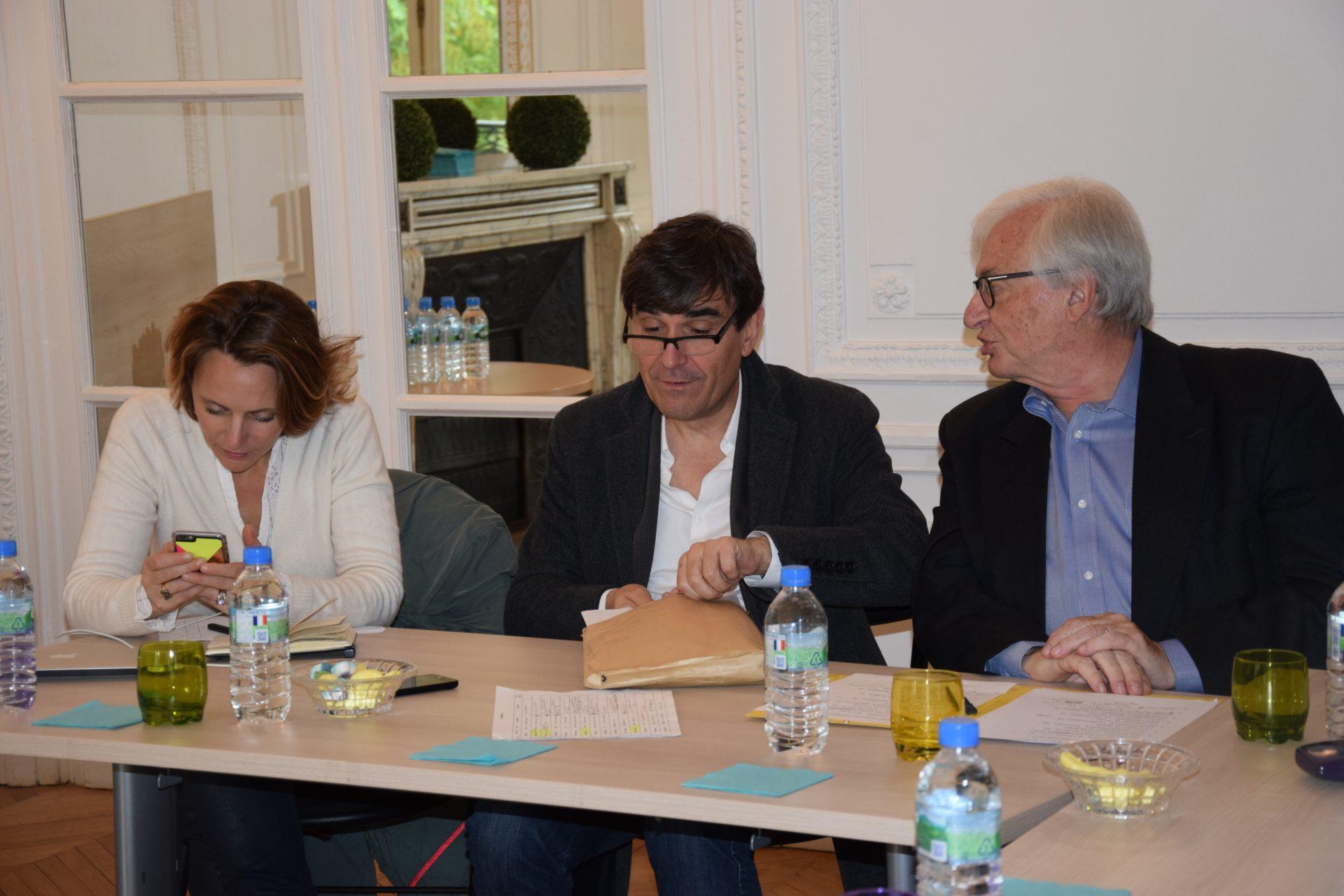Jury Presse quotidienne départementale - Julie JOLY (CFJ), Georges MALBRUNOT (Le Figaro) et Jacques BACHELLERIE