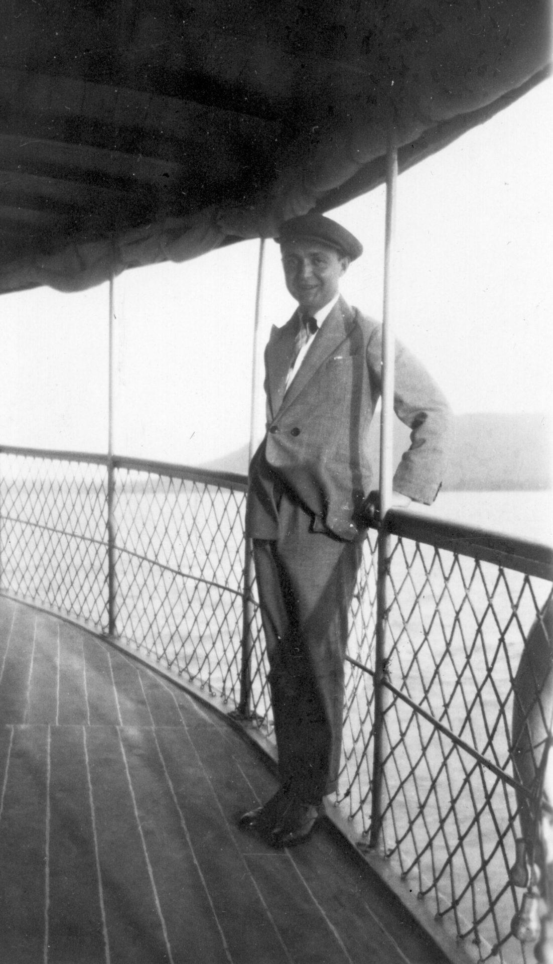 Monsieur Pourtier sur le Galieni - Juillet 1927