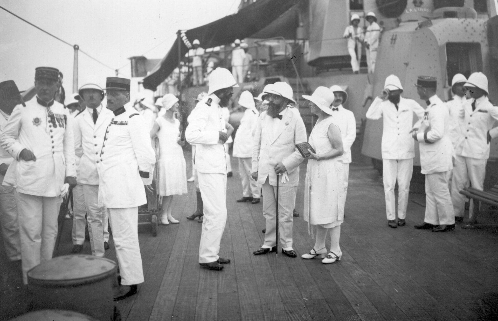 Réception sur le Primauguet le 18 Juillet 1927