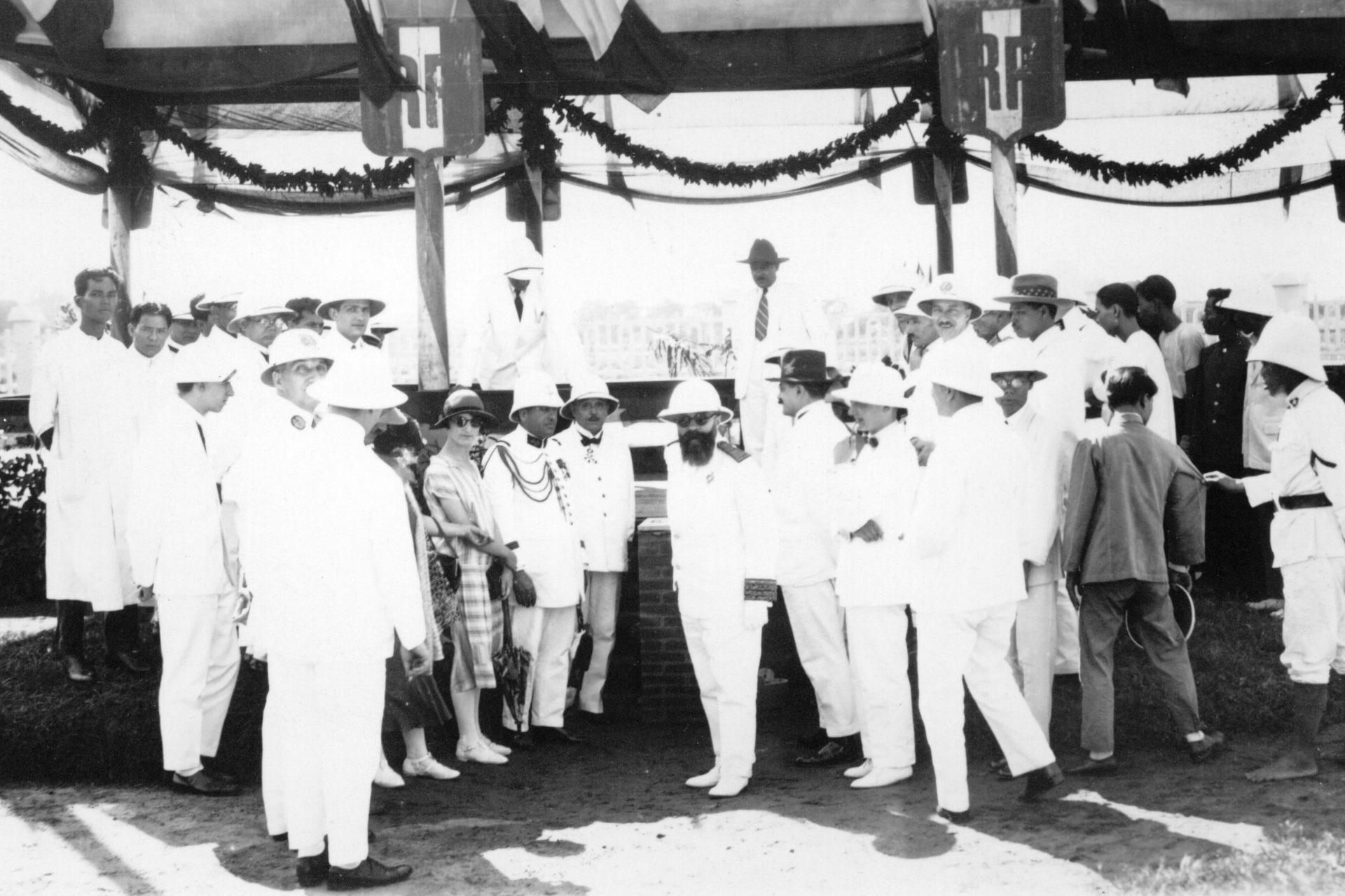 Pnom-Penh - Pose de la première pierre de l'hôpital - 24 Novembre 1925