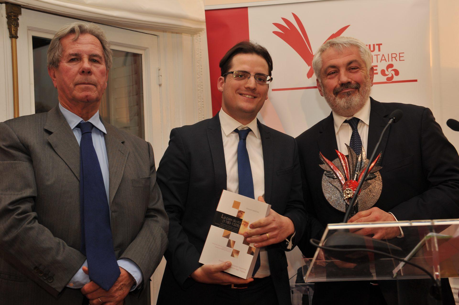 Vincent Martin, Lauréat dans la catégorie Histoire du droit et des institutions