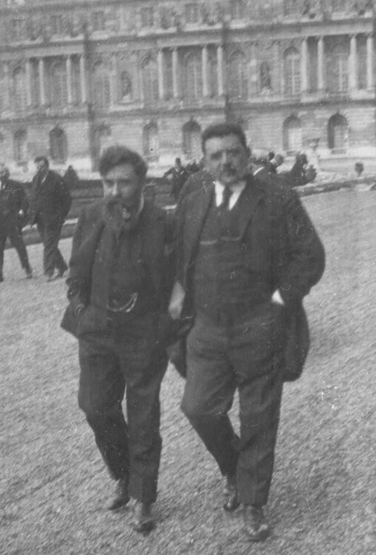 Alexandre Varenne et Gaston Doumergue (certains pensent qu'il s'agit d'Edouard Herriot, figure du Cartel des gauches)