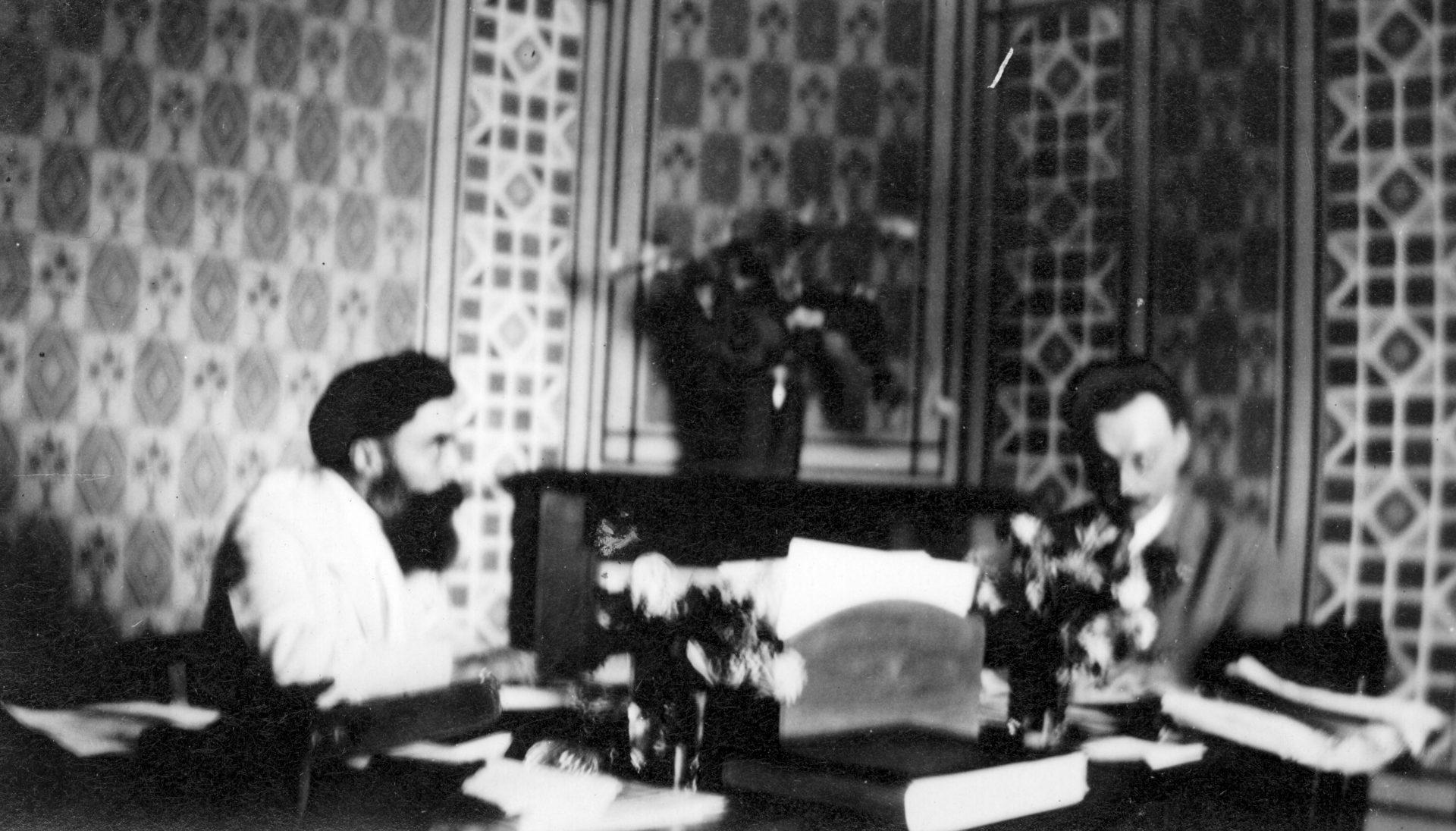 Alexandre Varenne, à gauche et Monsieur Brillat