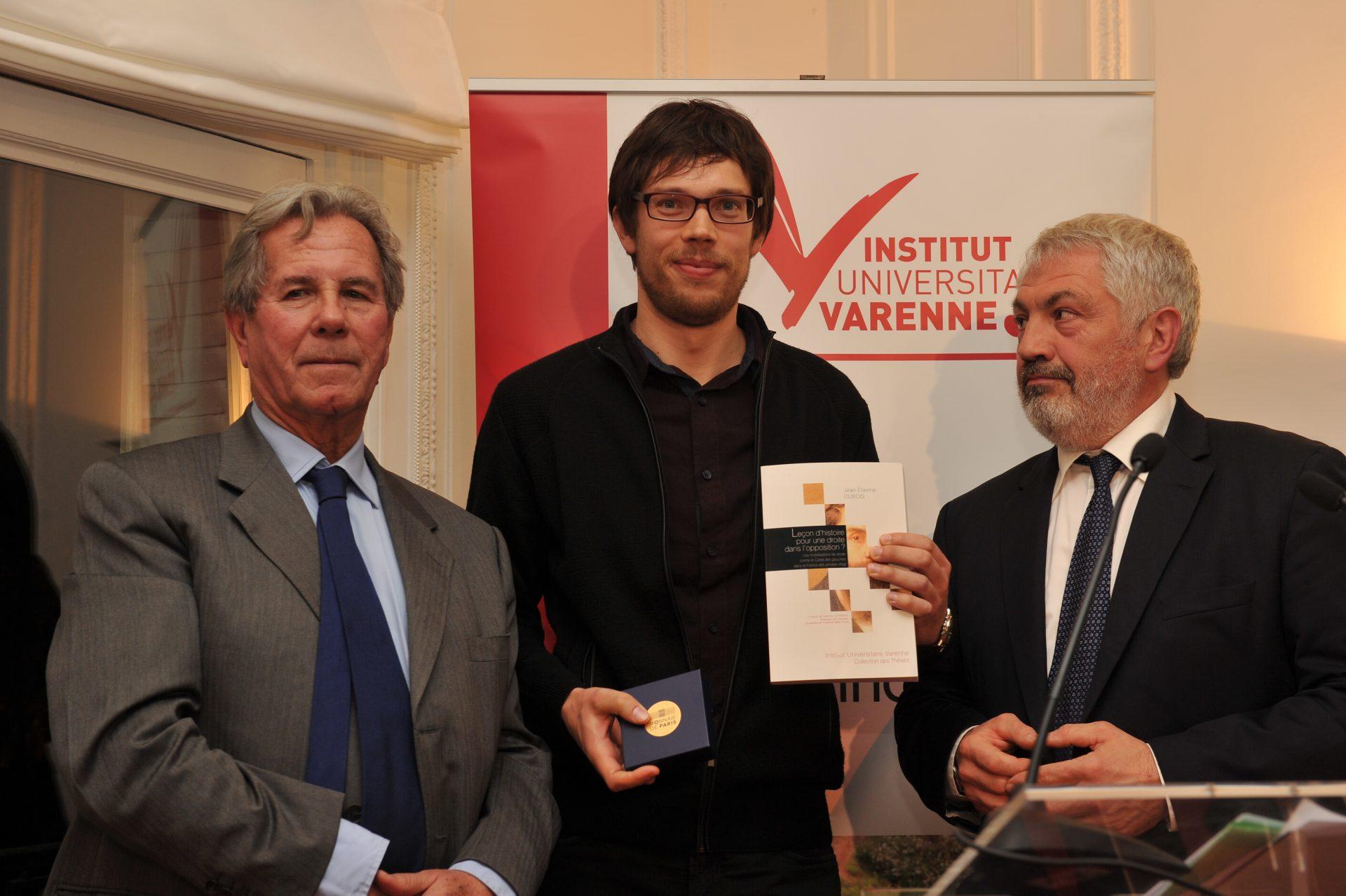 Jean-Etienne Dubois, Lauréat dans la catégorie Philosophie politique et histoire des idées et de la République
