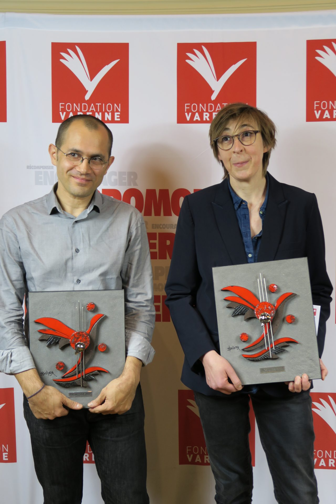 Stéphane Foucard et Stephane Horel (Le Monde) Grand Prix Varenne Presse quotidienne nationale