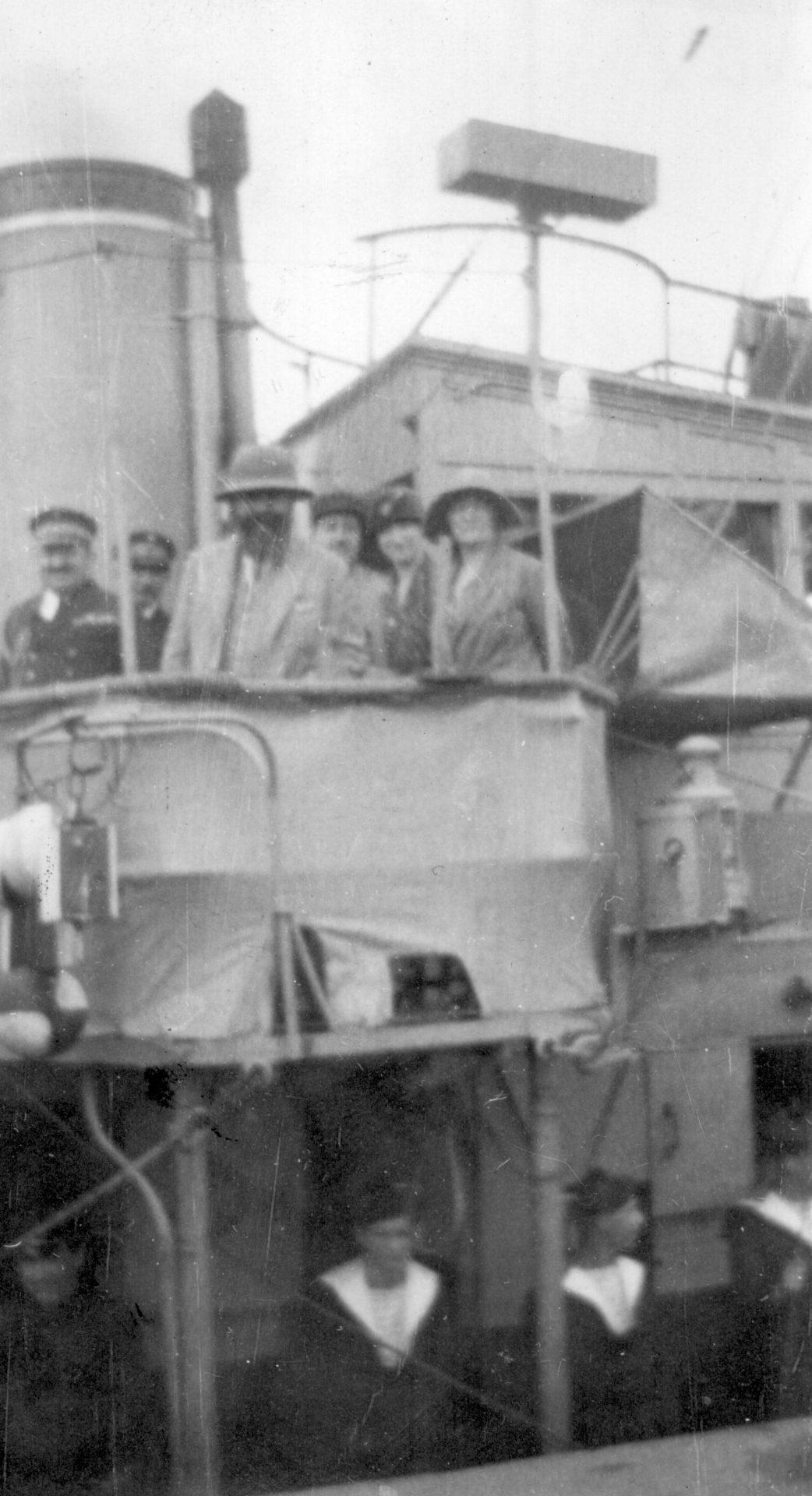 Alexandre Varenne sur l'Alerte, en partance pour Baie d'Along - 09 Mars 1926