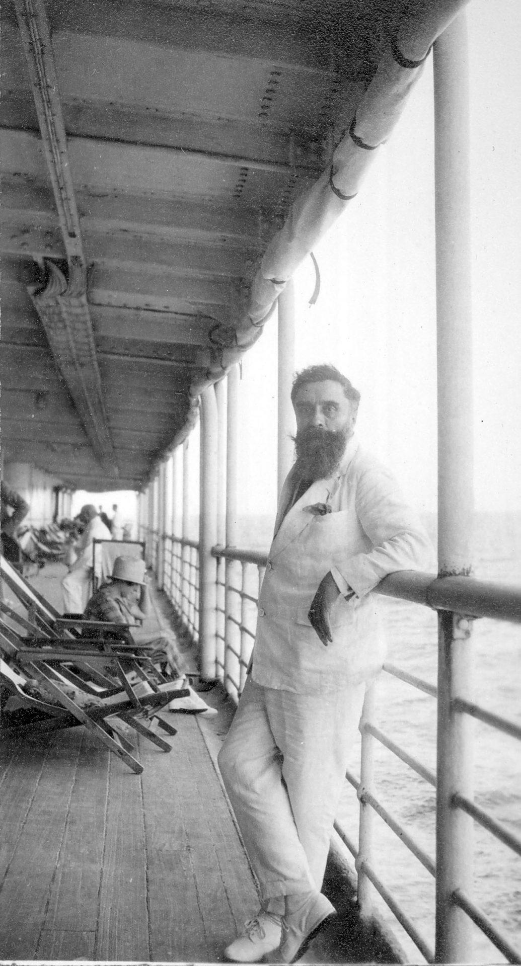 Alexandre Varenne en bateau