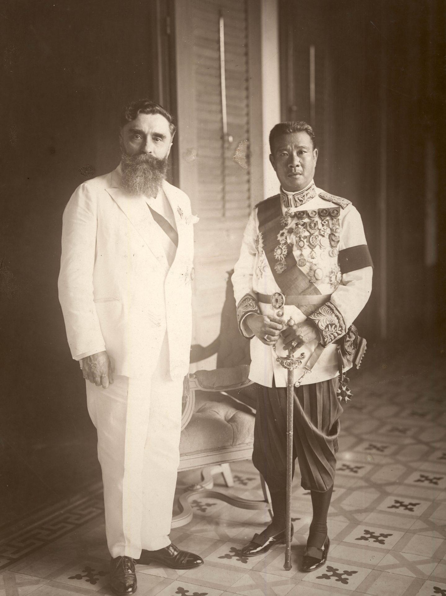 Alexandre Varenne et l'empereur Bao Daï