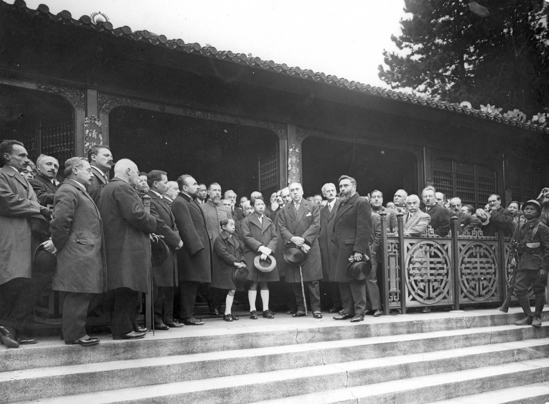 Temple commémoratif des Indochinois institué par le Souvenir Indochinois - Cérémonie du 08 Octobre 1925