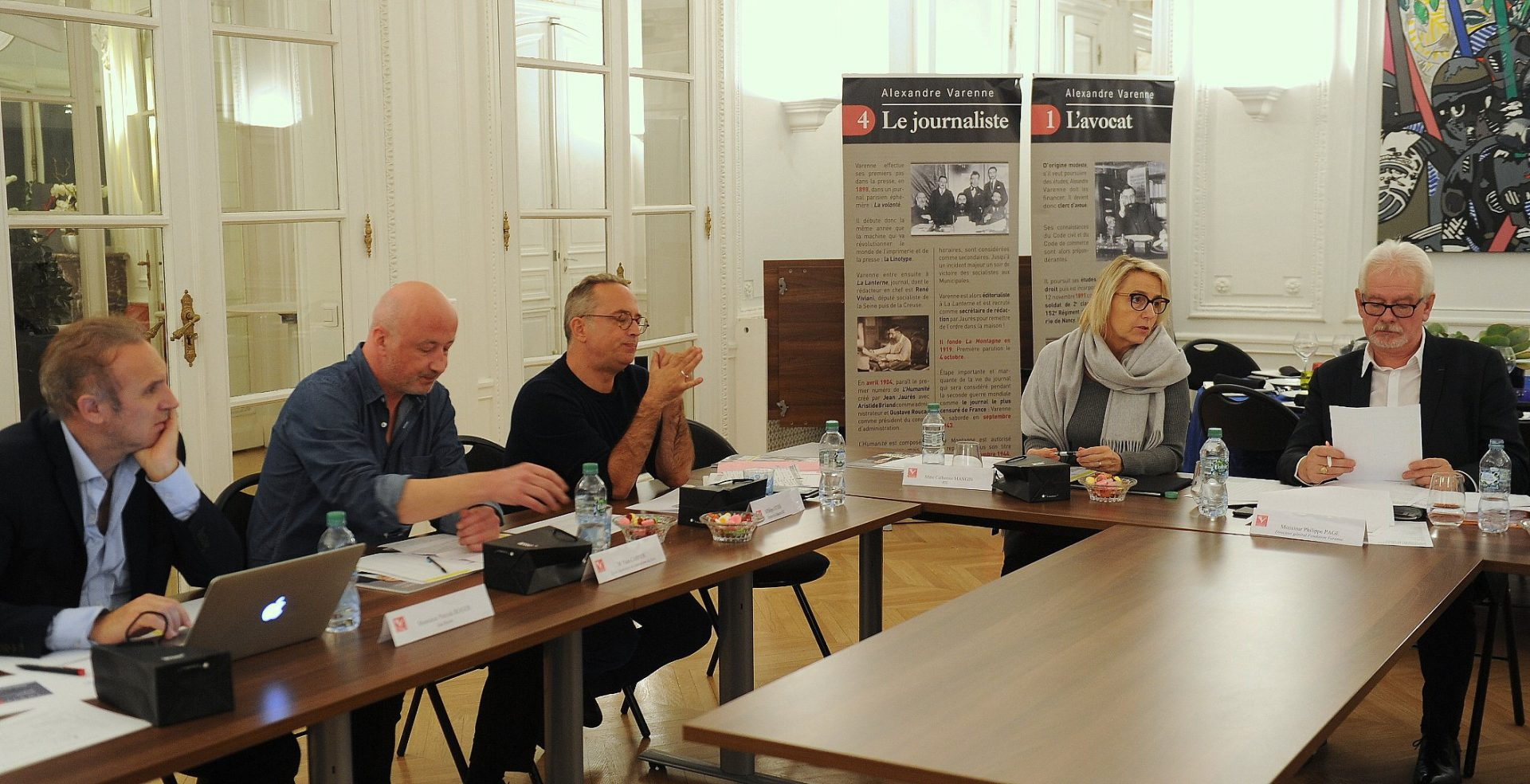 Le jury Radio : à gauche, Patrick Roger (DG Sud Radio), Yann Carpier (journaliste)