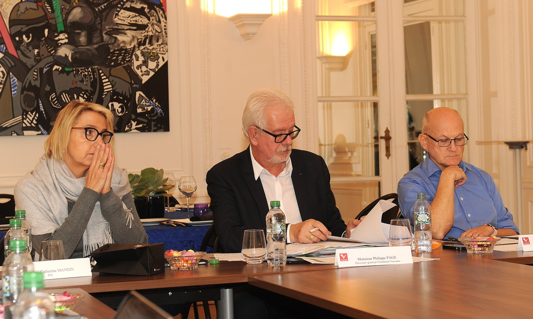 Le jury radio avec à gauche Catherine Mangin (RTL) présidente du jury, Philippe Page et Bruno Denaes (Radio France)