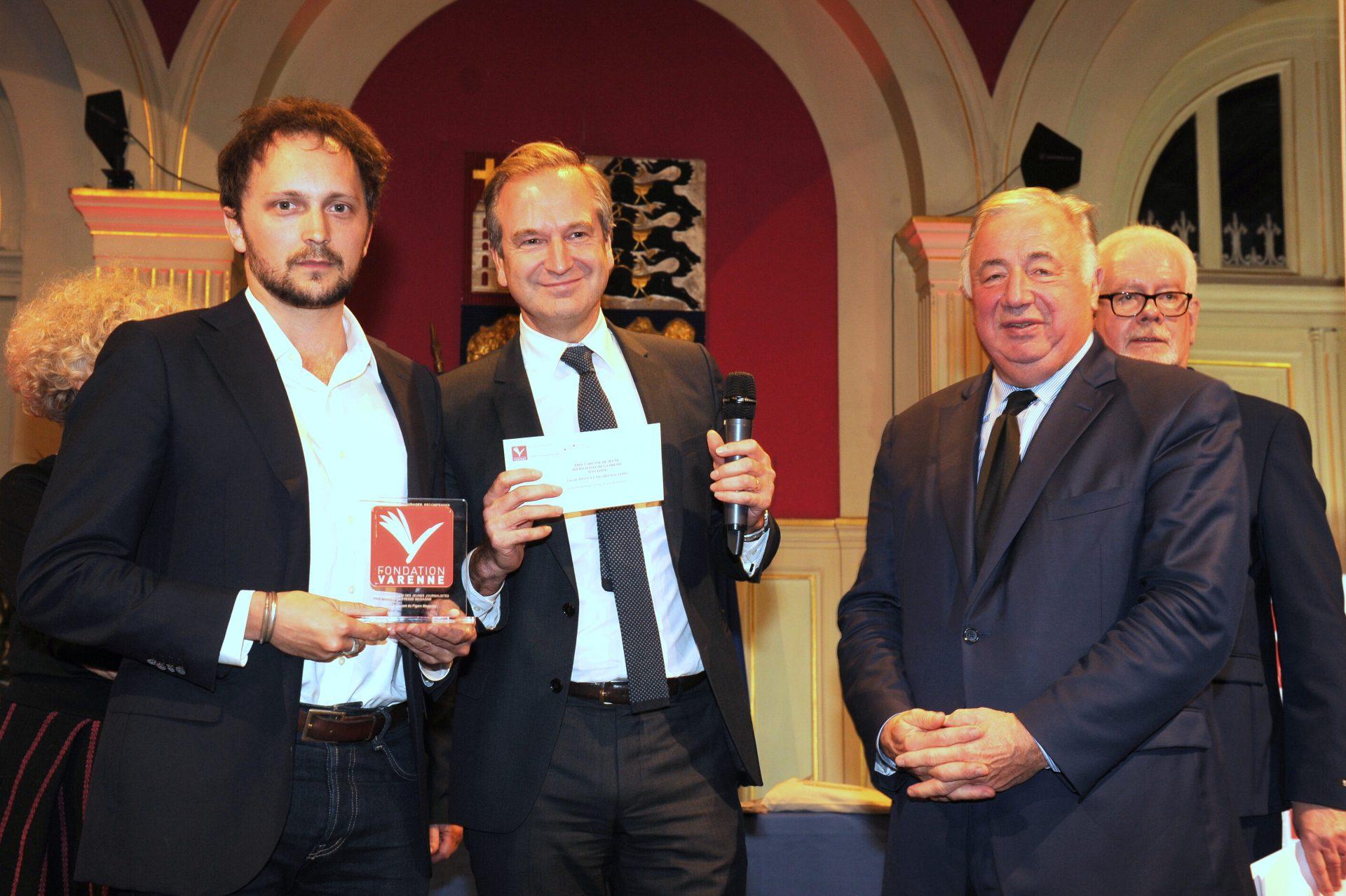 Prix VARENNE du Jeune Journaliste Presse Magazine remis à Vincent JOLLY du FIGARO.