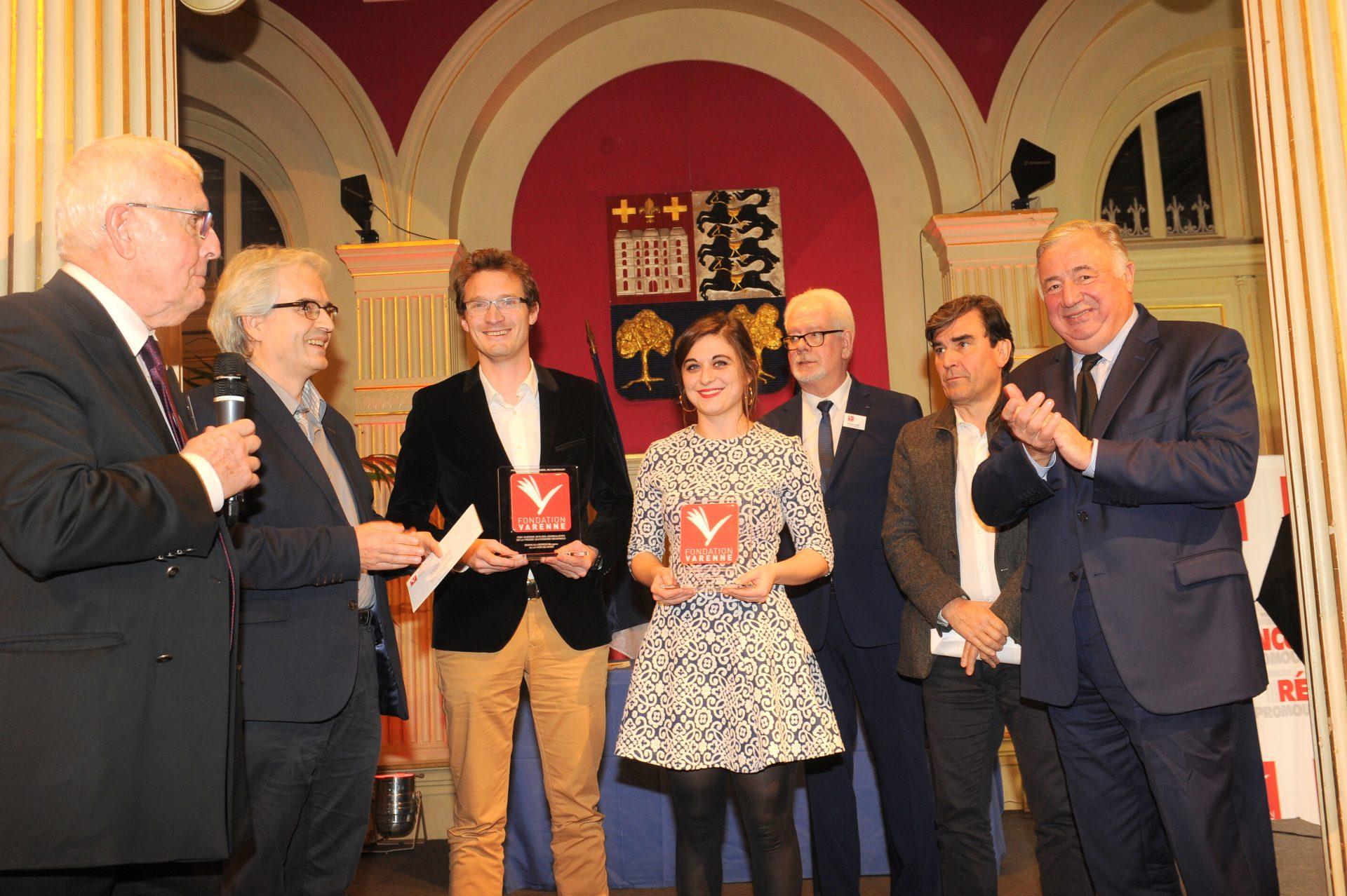 Grand-Prix-VARENNE-Journalistes-de-la-PQR-remis-à-Olivier-BOURGEOT-et-Morgane-BAGHLALI-SERRES-de-la-VOIX-DU-NORD