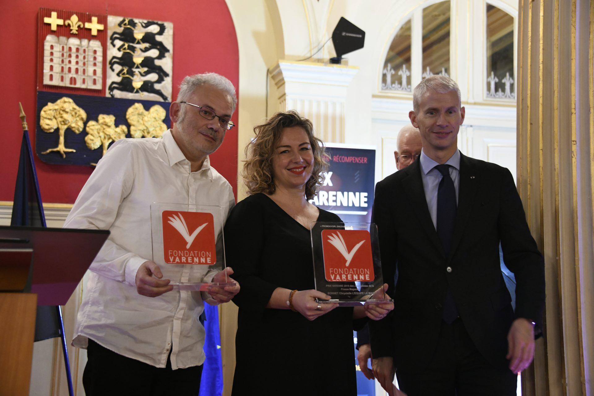 Chrystelle Bonnet et Nicolas Herbelot (L'Équipe Magazine) Grand Prix Presse Magazine