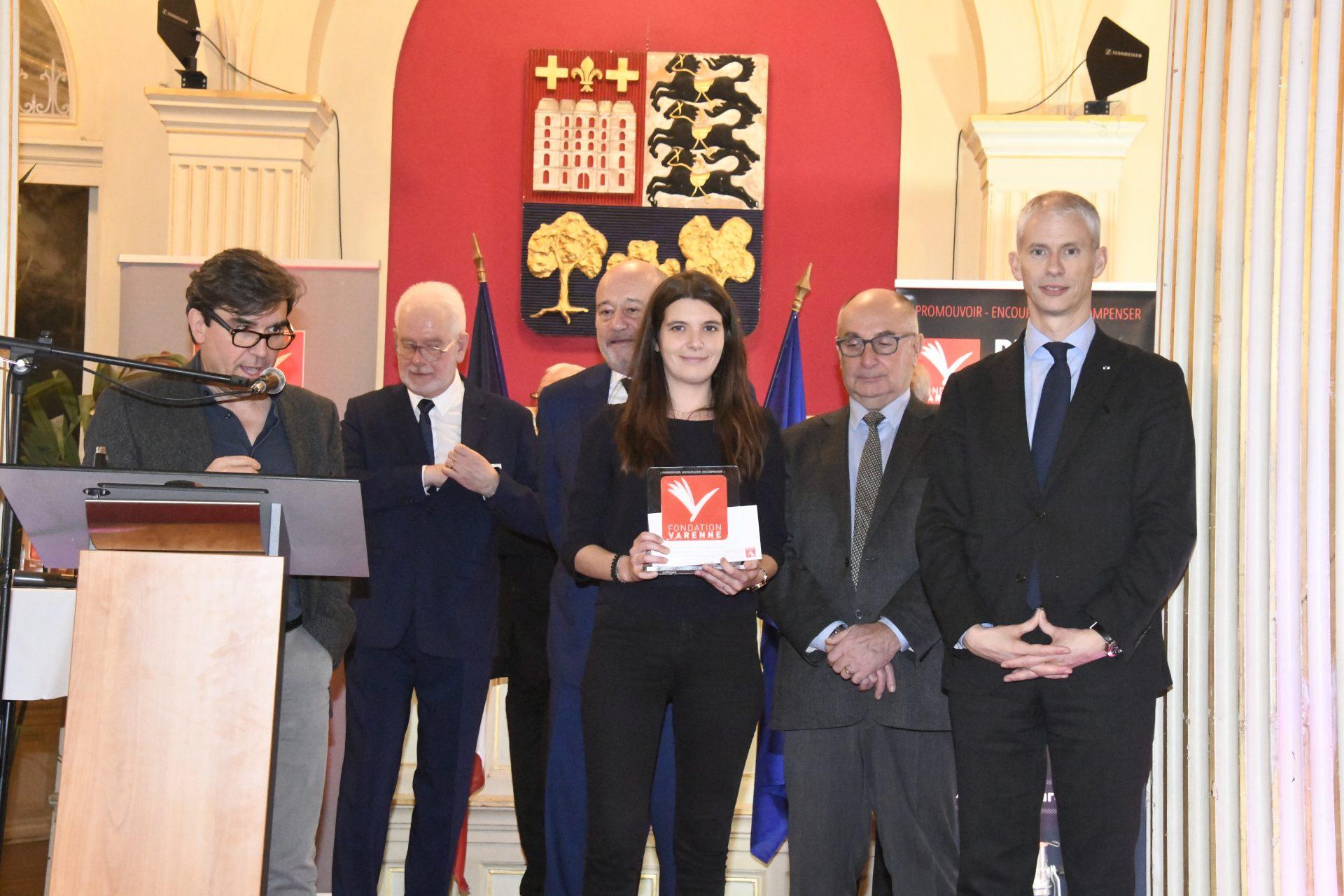 Sarah Bourletias (Le Populaire du Centre) Prix jeune journaliste PQR