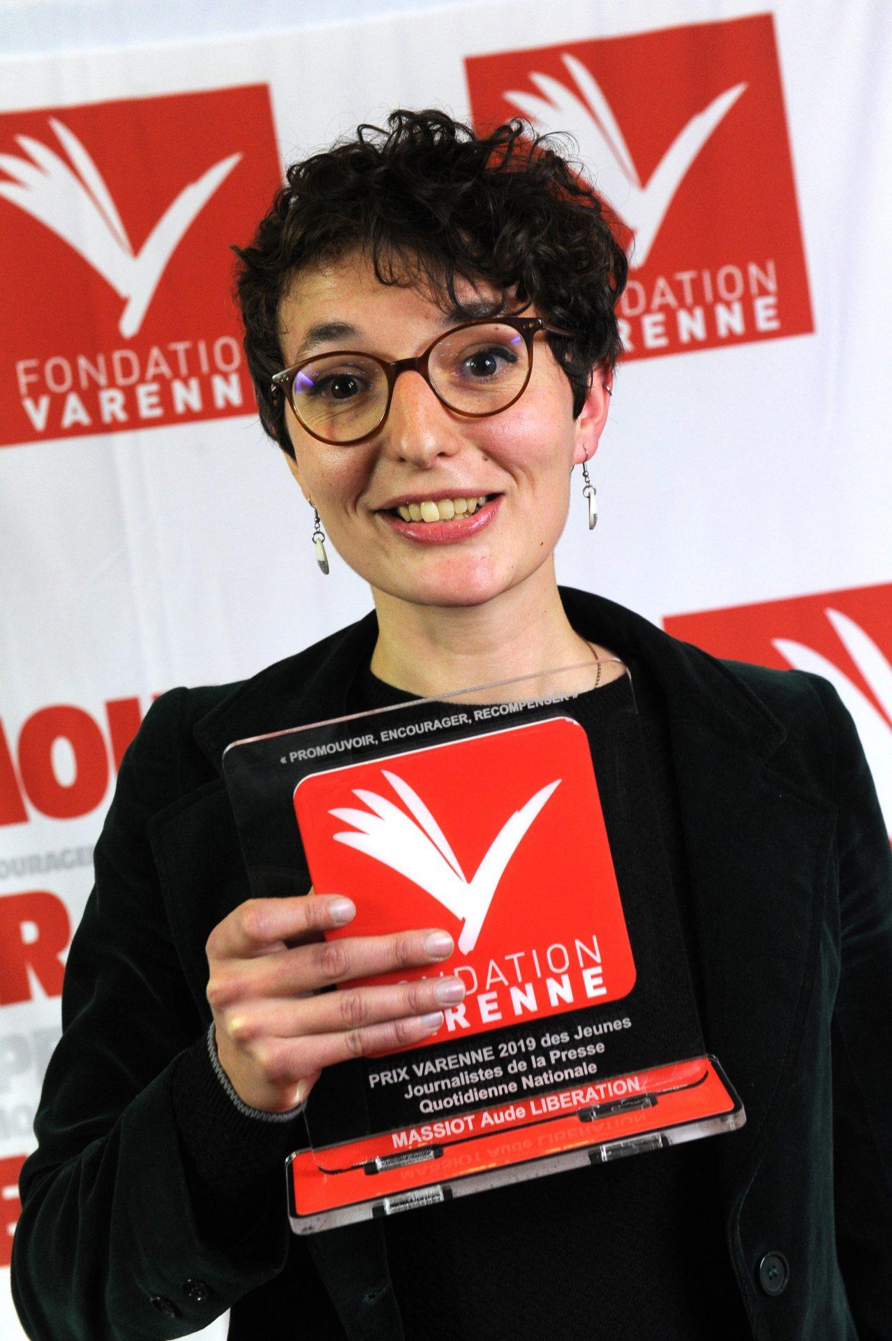 Prix Varenne jeune journaliste à Aude MASSIOT de Libération