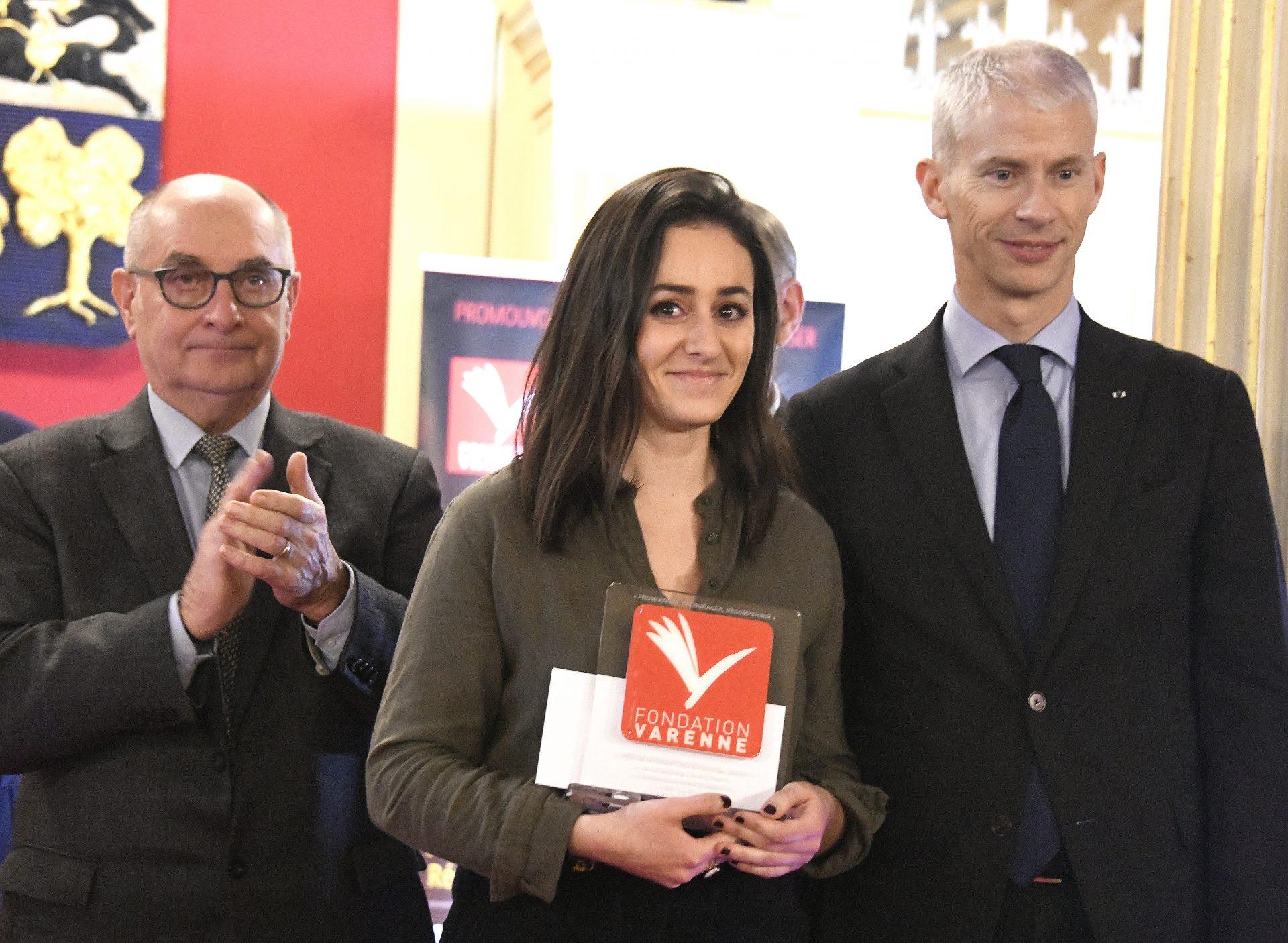 Prix Varenne jeune journaliste presse hebdomadaire à Camille ZAKAR du Pays Roannais