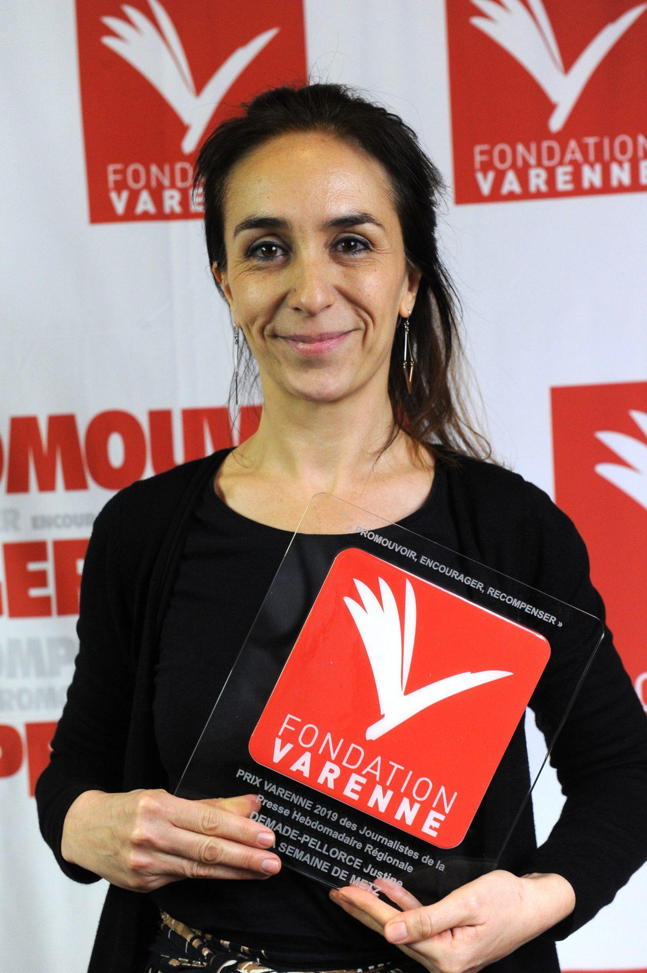 Grand Prix journalistes PHR à Justine DEMADE-PELLORCE du journal La semaine de Metz